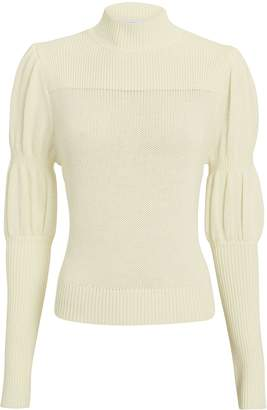 Derek Lam 10 Crosby Puff Sleeve Ivory Sweater