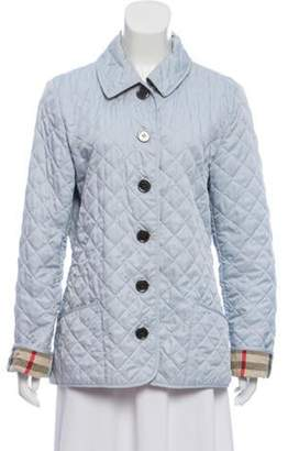 Burberry Quilted Nova Check Jacket blue Quilted Nova Check Jacket