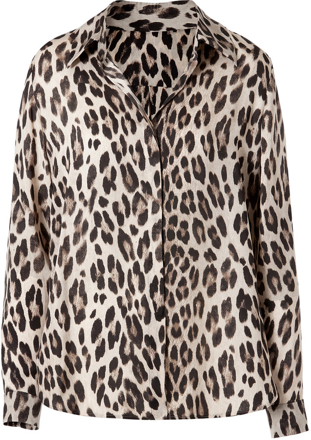 L'Agence LAgence Printed Shirt in Creme Leopard