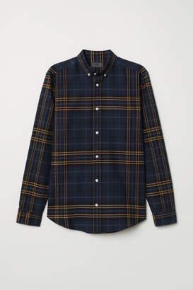 H&M Cotton Shirt Regular fit - Beige