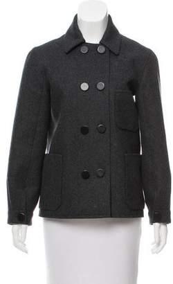Balenciaga Double-Breasted Wool Coat
