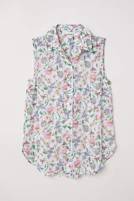 H&M Sleeveless Blouse - White