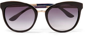 Tom Ford Cat-eye Acetate And Gold-tone Sunglasses - Black