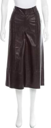 Frame Leather High-Rise Pants