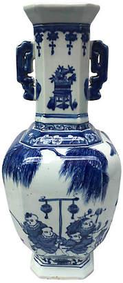 One Kings Lane Vintage Blue & White Chinese Porcelain Vase