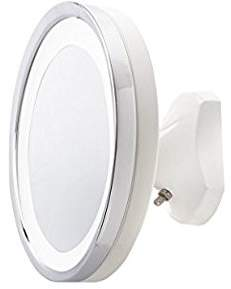 Jerdon HL95WL 5X LED Lighted Wall Mount Mirror