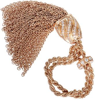 Damiani Heritage  18K Rose Gold 0.75 Ct. Tw. Diamond Tassel Ring