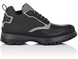 Prada MEN'S LEATHER & NYLON BOOTS-BLACK SIZE 13 M