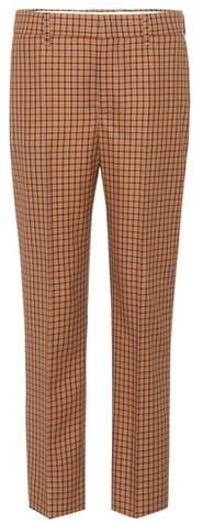 Prada Plaid wool and mohair trousers