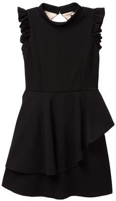 Laura Ashley Ava And Yelly Textured Peplum Back Keyhole Dress (Big Girls)