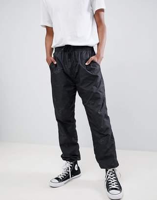 N. Rip Dip RIPNDIP Nermal reflective camo track pant in black