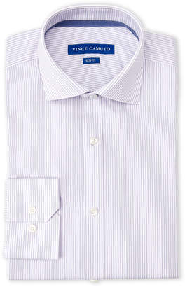 Vince Camuto Purple Stripe Slim Fit Dress Shirt