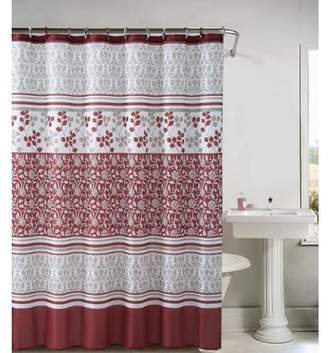 """Bed in a Bag Lyon Embossed Microfiber Shower Curtain- 72""""x 72"""""""