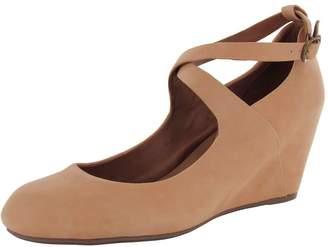 Gentle Souls Womens Funtastic Nubuck Dress Wedge Pump Shoes