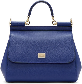 Dolce & Gabbana Blue Medium Miss Sicily Bag $1,695 thestylecure.com
