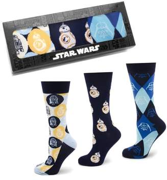 Cufflinks Inc. Cufflinks, Inc. 'Star Wars' Icons 3-Pack Socks