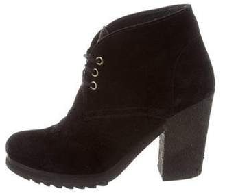Prada Sport Suede Lace-Up Ankle Boots