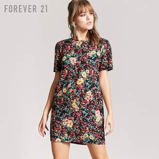 Forever 21 (フォーエバー 21) - Forever 21 フラワープリントワンピース