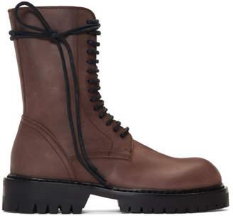 Ann Demeulemeester Brown Texas Lux Boots