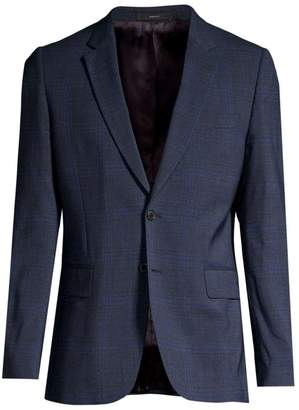 Paul Smith Soho Tonal Check Wool-Blend Jacket