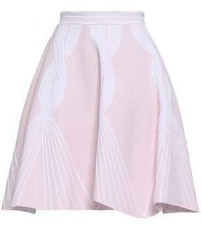 Valenti Antonino Pleated Jacquard-knit Skirt