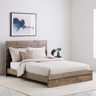 west elm Emmerson® Modern Reclaimed Wood Bed - Stone Gray