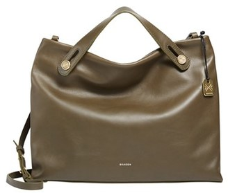 Skagen 'Mikkeline' Leather Satchel $295 thestylecure.com