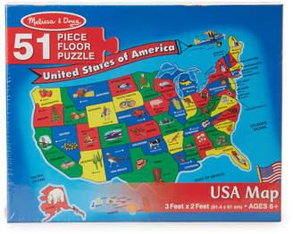 Melissa & Doug 51-Piece USA Map Floor Puzzle