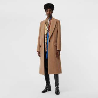 Burberry Oversized Lapel Camel Hair Tailored Coat , Size: 10, Brown