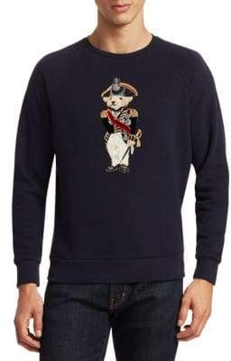 Ralph Lauren Purple Label Embroidered Bear Wool Sweatshirt