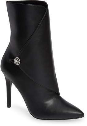 Charles by Charles David Pistol Crystal Embellished Pointy Toe Bootie