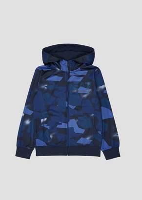 Emporio Armani Ea7 Boys Patterned Sweatshirt With Hood