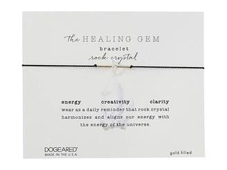 Dogeared The Healing Gem Bracelet, Rock Crystal On Silk w/ Accent Beads