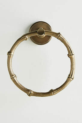 Anthropologie Bamboo Towel Ring