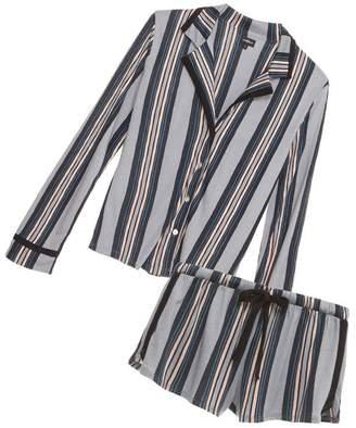 Cosabella Bella Printed Long Sleeve Top Boxer Pajama Set