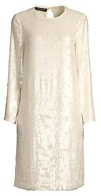 Lafayette 148 New York Women's Bonnie Iridescent Sequin Shift Dress