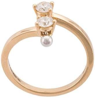 Delfina Delettrez 18kt Yellow Gold Two in One diamond
