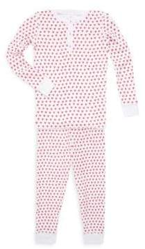 Roller Rabbit Toddler's, Little Girl's& Girl's Two-Piece Hearts Cotton Pajama Top& Pants Set