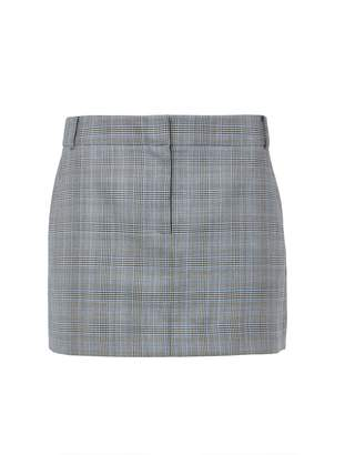 Tibi Cooper Silk Wool Mini Trouser Skirt