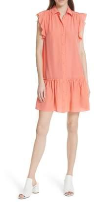 Kate Spade drop waist silk dress
