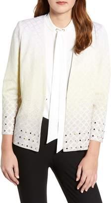 Ming Wang Studded Jacquard Jacket
