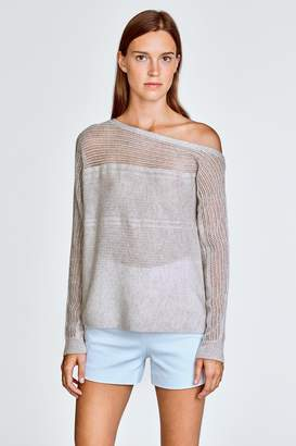 White + Warren Off Shoulder Sweater