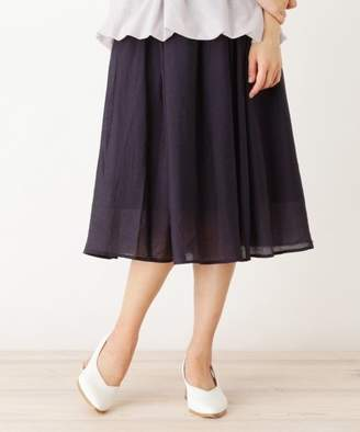 PINK adobe (ピンク アドベ) - pink adobe リボン細ベルト付きギャザースカート