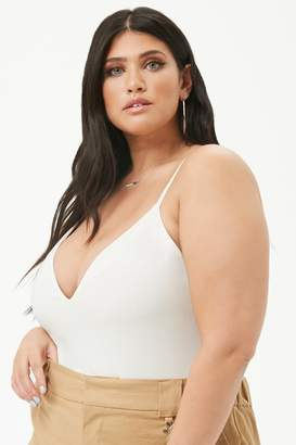 Forever 21 Plus Size V-Neck Cami Bodysuit