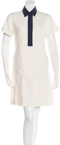 prada Prada Pleated Mini Dress