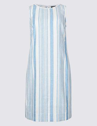 Marks and Spencer PETITE Linen Blend Striped Tunic Dress