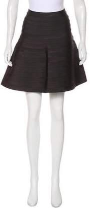 Herve Leger A-Line Bandage Skirt