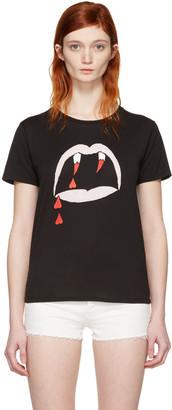 Saint Laurent Black Blood Luster T-Shirt $350 thestylecure.com