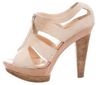 Christian Louboutin Cutout Platform Sandals