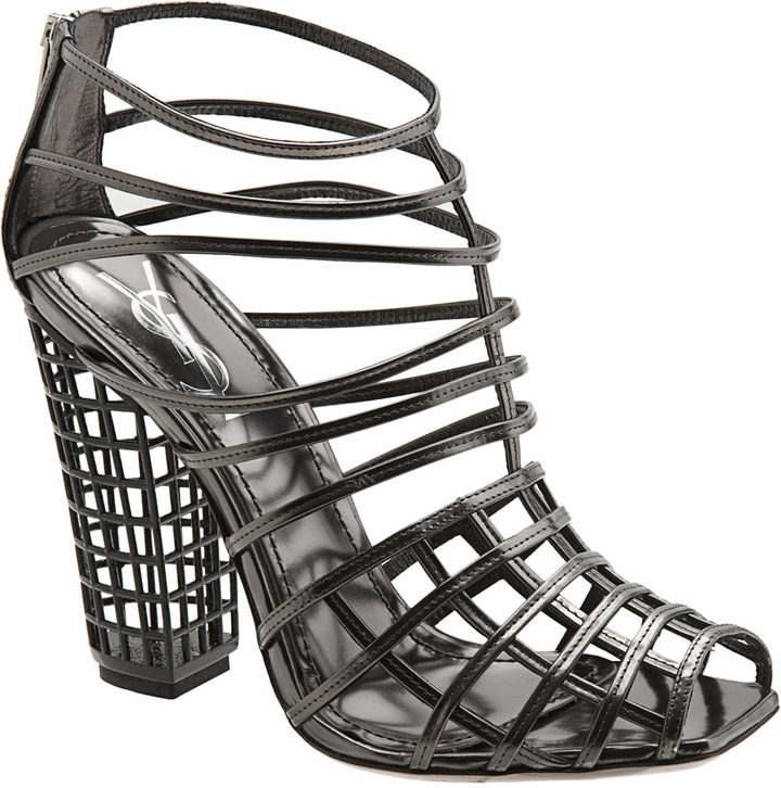Yves Saint Laurent Cage Ankle Boot - Anthracite